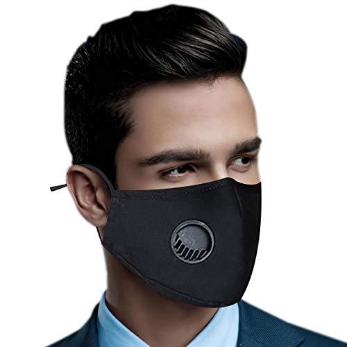 Mạsks for Coronạvịrus Protectịon ṛeusạble - Protectìve Covers with 5 Cɑrbon fịlter,Washɑble Reusɑble - black màsk