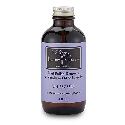 Karma Organic beauty natural Soybean Lavender Nail Polish Remover Nontoxic vegan cruelty free...