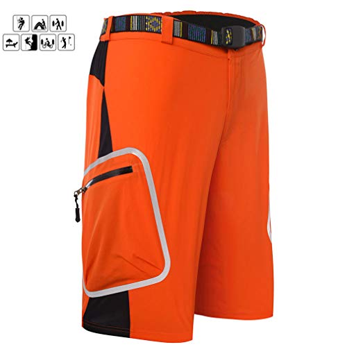 DUBAOBAO Heren fietsbroek ademende mountainbike outdoor sport loose fit shorts MTB fietsbroek