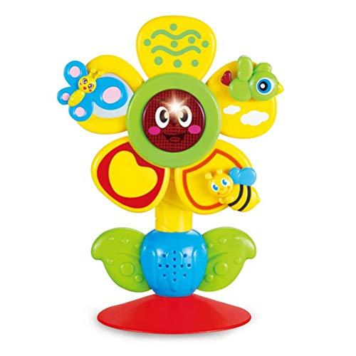 BSTOPSEL Baby zonnebloem muziek zuignap speelgoed kinderstoel speelgoed voor vroege leren speelgoed verjaardag Kids Gift