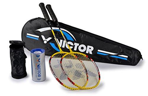 Victor Raquette de Badminton Set de Badminton 2x...