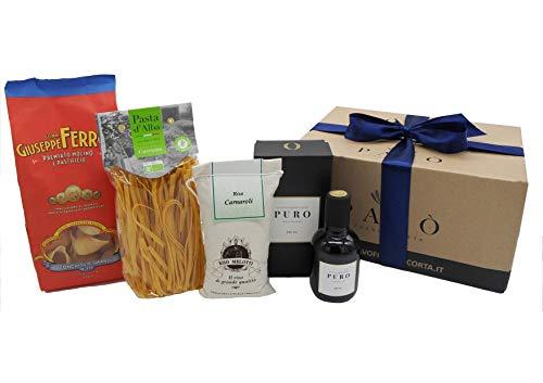 GOURMOOD ECCELLENZE ENOGASTRONOMICHE 100% MADE IN ITALY STRENNA CESTO REGALO ENOGASTRONOMICO Qualità ed Eccellenza Confezione Cartone Serigrafato con Fiocco Prodotti Selezionati Bio Gluten Free