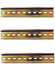 Her Kindness 3 stuks DIN-rails, kleur staal, DIN rail voor verdeelkast, schakelkast inbouw, 35 mm breed, lengte 200 mm/7,9 inch, 7,5 mm hoog