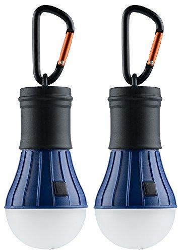 AceCamp 2 x Campinglampe, Camping Laterne, Hochwertige LED Camping Lampe, Lantern Light, Wasserdicht ohne Strom, Blau Schwarz, 102869-ace