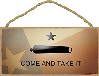 SJT ENTERPRISES, INC. Texas - Come and Take It - Cannon with Texas Flag Background 5