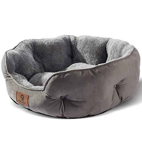Asvin Dog Bed, Cat Beds for Indoor Cats, Pet Bed for Puppy and Kitty, Extra Soft & Machine Washable with Anti-Slip…