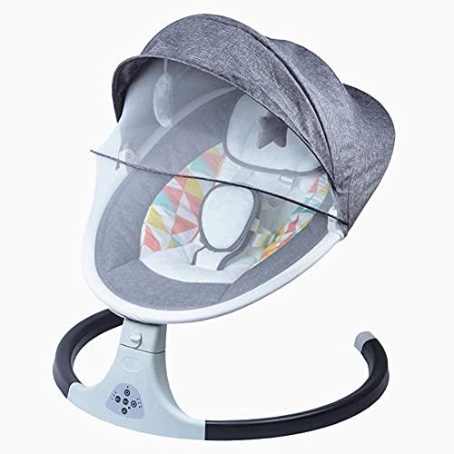 Silla de swing de bebé, mora de seguridad de sincronización con música/control remoto portátil Silla Rocker para niño recién nacido, rosa WDH666 (Color : Gray)