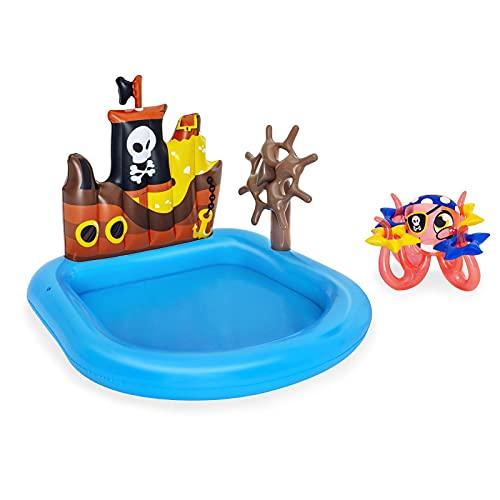 gaoweipeng Centro De Juegos Pirata Piscina Infantil Hinchable Engrosada Piscina Infantil Portátil Bolas Oceánicas Duradera Piscina Inflable del Barco De Cruceros para Adultos Niños Se Reúnan 140CM