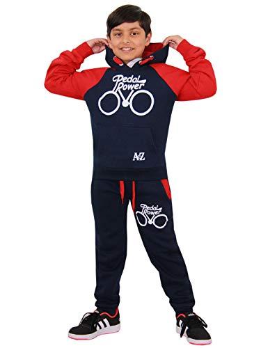 A2Z 4 - Chándal infantil para niños y niñas, diseño de pedal con capucha y pantalón de joggers 5 6 7 8 9 10 11 12 13 años
