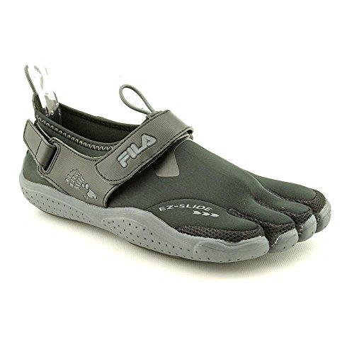 Fila Men's Skele-Toes EZ Slide Drainage Athletic Shoes, Black Textile, 7 M