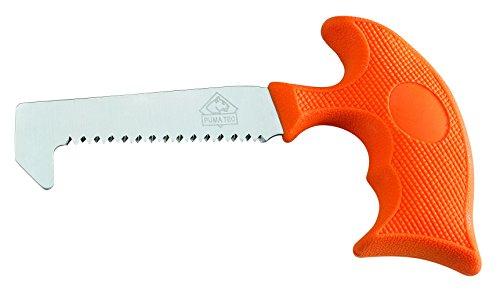 Puma Tec Knochensäge, rostfreier Stahl AISI 420, orangefarbener Kunststoffgriff, schwarzes Nylon-Gürteletui Sägen, Mehrfarbig, One Size