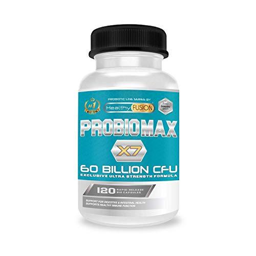 Probiotique 60 milliards de CFU | Probiotique flore intestinale | Formule à large spectre | Probiotiques micro-encapsulés pour prévenir leur dégradation |120 gélules
