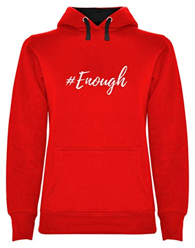 #Enough Protestation Rebelle Street Style Fashion Sweatshirt Capuche Femme X-Large Rouge