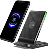INIU Cargador inalámbrico, 15 W, estación de carga inalámbrica con certificado Qi, cargador compatible con iPhone 12 11 Pro Max Xr Xs X 8, Samsung Galaxy S21 S20 S10 S9 S8 Note10 9 AirPods, etc.