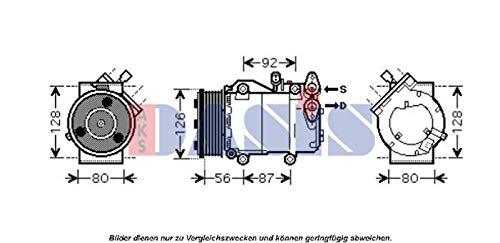AKS Dasis 851677N Compresor, aire acondicionado