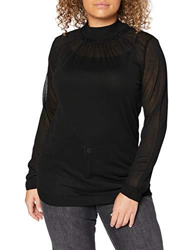 Sisley Turtle Neck SW. L/s Maglione, Black 700, S Donna
