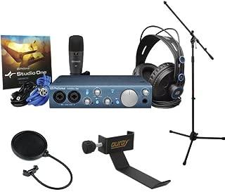 PreSonus AudioBox iTwo Studio Recording Kit with M7 Mic, HD7 Headphones, S1 Artist, Tripod Microphone Stand, Headphone Holder and Pop Filter