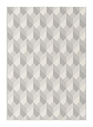 Balta Tapis Intérieur/Extérieur Essenza - Cubes 3D (160 x 230 cm, Grège)