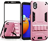 Folmeikat Samsung Galaxy A01 Core/M01 Core,(Not for A01 5.7') with Screen Protector&Built-in Kickstand,[Skockproof] Dual Layer Full-Body Protective Phone Case Cover for Women/Men 5.3' (Rose Gold)