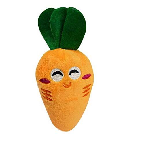 liming Sonriendo Zanahoria Lindo Perro mastica Juguete chiringuito para Cachorro Mascota Juguetes para Mascotas Naranja