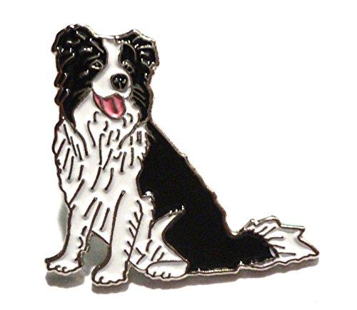 Border Collie Herding Working Dog Metal Enamel Sheepdog Badge