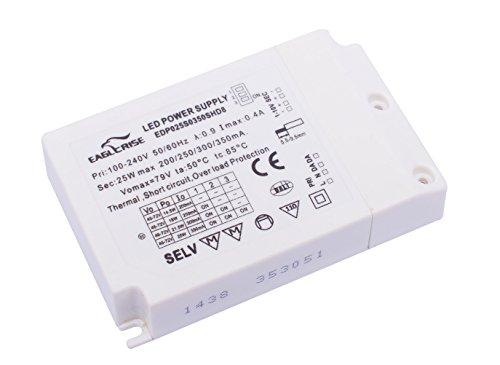 60 W Plastique,et Autre materiaux EAGLE RISE DRI.7011 Transformateur 12VDC 60W Bornier EIP060V0120LS Blanc