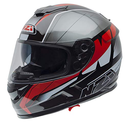 NZI Cascos Integrales, Mega Black Red, Talla M