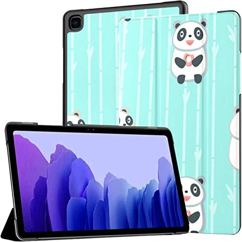 Funda para Samsung Galaxy Tab A7 Tableta de 10,4 Pulgadas 2020 (sm-t500 / t505 / t507), Patrón Cute Pandas Eating Multiple Angle Stand Cover con Auto Wake/Sleep
