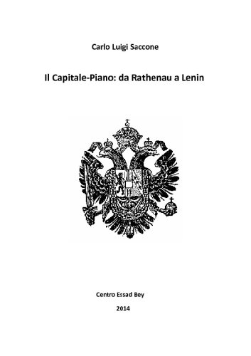 Il Capitale-Piano, da Rathenau a Lenin (