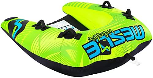 MESLE Tubo Remolcable Wakester 1-2 Personas, Funtube Inflable, Nylon 840 D, para Niños y Adultos, Deportes Acuáticos, Tubo de Esquí Acuático, para Barcos y Motos Acuáticas, Verde