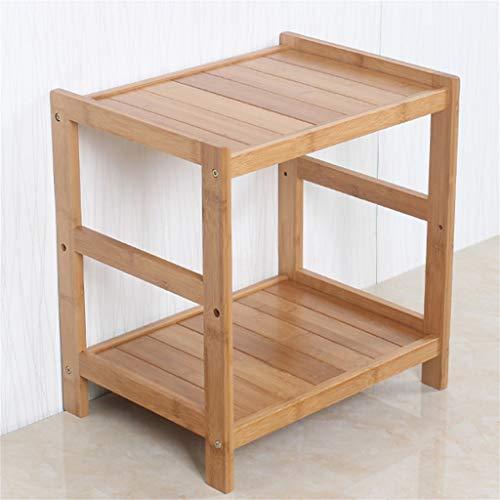G-HJLXYZWJHOME 2-Tier Bamboe Badkamerplank, Staande Keukenrek Bloemenstandaard Geschikt voor gebruik In De Badkamer Keuken Woonkamer
