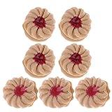 B Blesiya 1:12 Puppenhaus Küche Zubehör - 1 Packung Sortiert Gebäck Kekse aus Ton - C