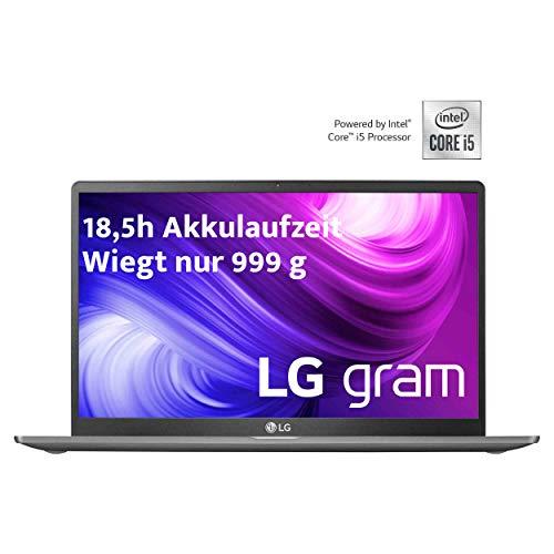 LG gram 14 Zoll Ultralight Notebook - Unter 1 kg leichter Intel Core i5 Laptop (8GB DDR4 RAM, 256 GB SSD, 18,5 h Akkulaufzeit, Full-HD IPS Display, Thunderbolt 3, Windows 10 Home) - Dunkelgrau