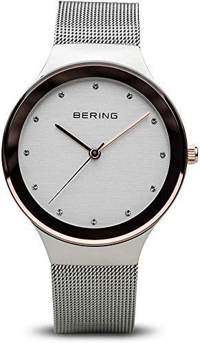 BERING Damen Analog Quarz Uhr mit Edelstahl Armband 12934-060