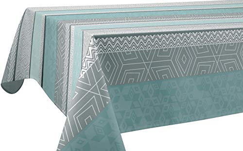Mantel Antimanchas Leon Azul - Rectangular 150x240