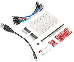 SparkFun ESP8266 Thing Starter Kit for Internet of Things WiFi Development Includes headers jumper wires breadboard Serial breakout Mico-B USB Cable and LEDs Use to Start a Project or Learn IoT