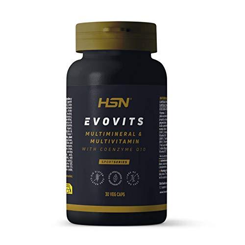 Evovits de HSN | Multivitaminas y Minerales | Complejo Multivitamínico para Mujer, Hombre, Vegetarianos y Deportistas, Sin Gluten, Sin Lactosa, 30 Cápsulas Vegetales