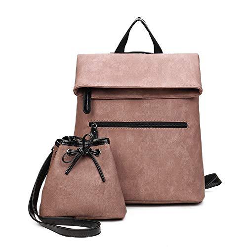 YUIOP Rucksack Bildpaket Mit Großer Kapazität Zweiteiliger Rucksack Für Mädchen Rucksack Im College-Stil