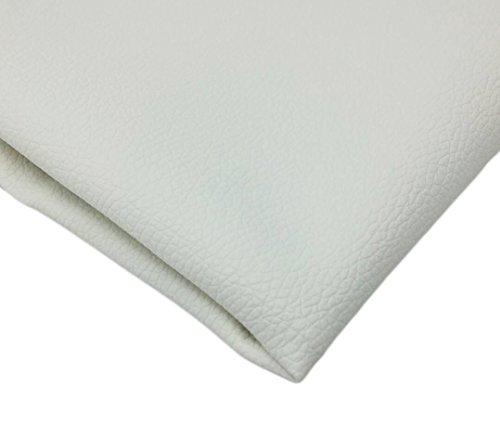 KMS 合皮 フェイク レザー 生地 ソフト 柔らかめ 薄手 幅135㎝ ハンドメイド DIY 製作(2m, 白色)