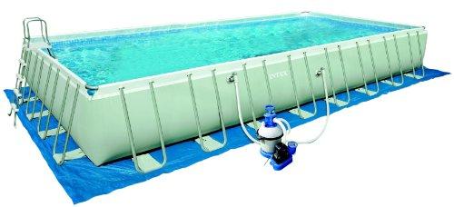 Intex 12-54986 Ultra Quadra III Frame Pool Set, 975 x 488 x 132 cm