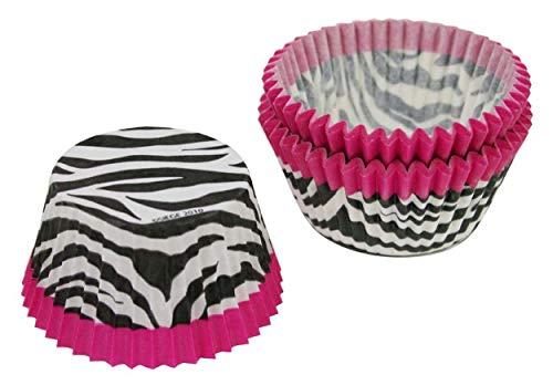 Cupcake Creations Pink Zebra Cupcake Holders, 2-Inch, 32 Count