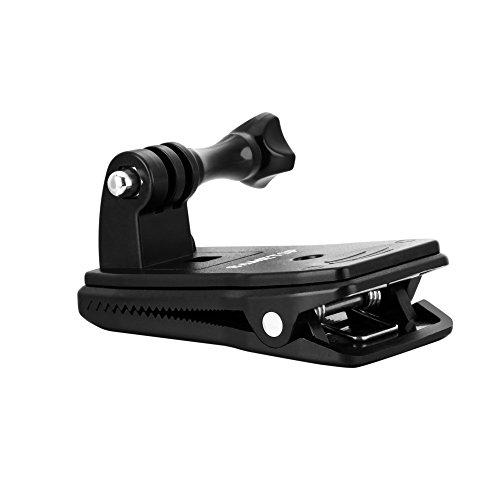 Sametop 360 Grad Drehbare Rucksack Halterung Clip Halter Halterungrucksack Kompatibel mit GoPro Hero 9, 8, 7, 6, 5, 4, Session, 3+, 3, 2, 1, Hero (2018), Fusion, Max Kameras