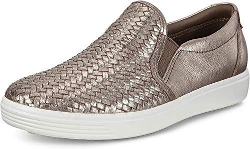 ECCO womens Soft 7 Woven Slip on 2.0 Sneaker, Stone Metallic, 11-11.5 US