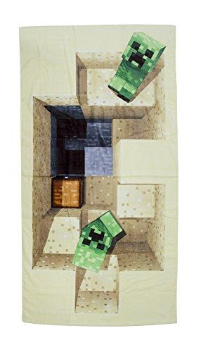 Minecraft Defeat Design, Handtuch, Baumwolle, Beige, 140x 70x 2cm
