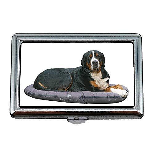 Hard Box Zigarettenetui, Hund Berner Sennenhund Anzeigen Herding Dog, Visitenkartenetui Visitenkartenetui Edelstahl