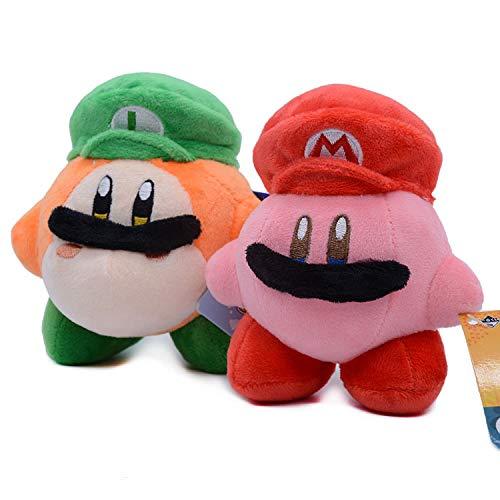 XINBANG Anime key pendant Two-piece Set Japanese Mario Star Kabi Co-production Kirby Wadodi Transformed Into A Plush Doll Pendant Pendant Pendant Pendant.
