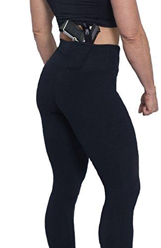 AC Undercover Concealment Leggings Holster. Concealed Carry (Black, Medium)