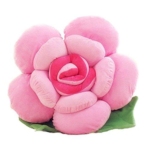 Cuscino grande a forma di rosa, per decorare la casa, il divano o l'auto, con soffice imbottitura, regalo per gli amanti dei giocattoli, Cotone, Pink, 30 cm
