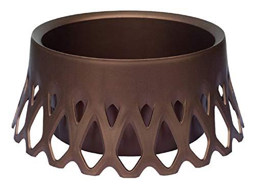 Plastia Dekor-/ Bewässerungsschale Roseta Durchmesser 30 cm, braun