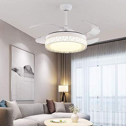 Luce a sospensione moderna Ventilatore da soffitto da 36 '' con telecomando - GUIDATO Integrazione Luci a sospensione a tre colori ADDOMINALI Blade invisibile per soggiorno Camera da letto Ristorante